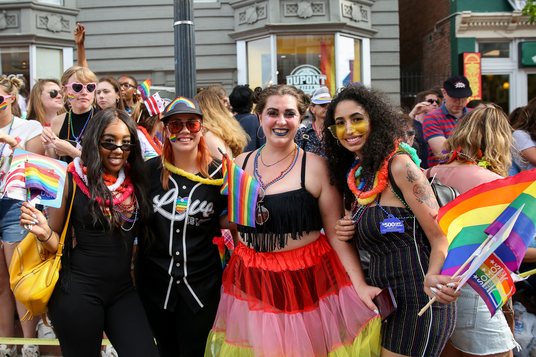 There were plenty of eye-catching makeup looks around Pride this year, which we'd love to see around D.C. more often!{ } (Amanda Andrade-Rhoades/DC Refined)