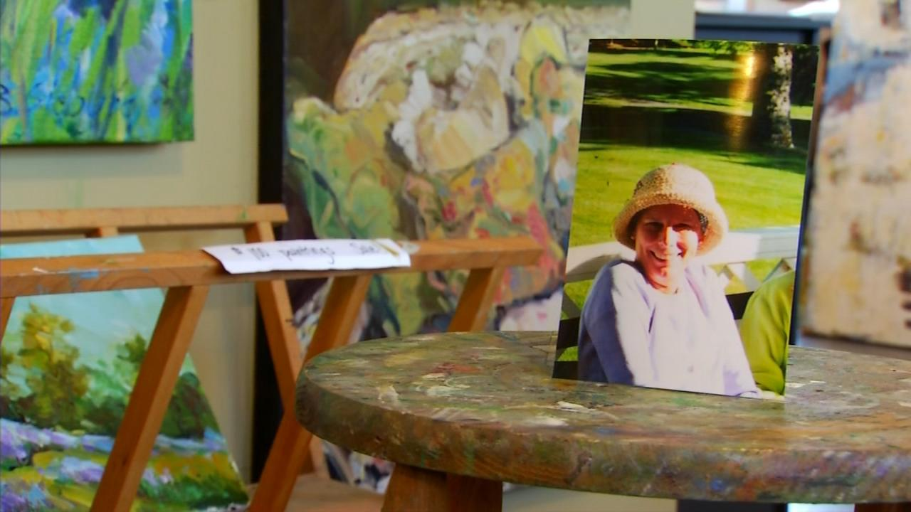 After an unexpected turn in life, Bea Sieburg and her daughter, Molly, sold their flower shop in Biltmore Village to pursue their lifelong passion for painting. (Photo credit: WLOS staff)