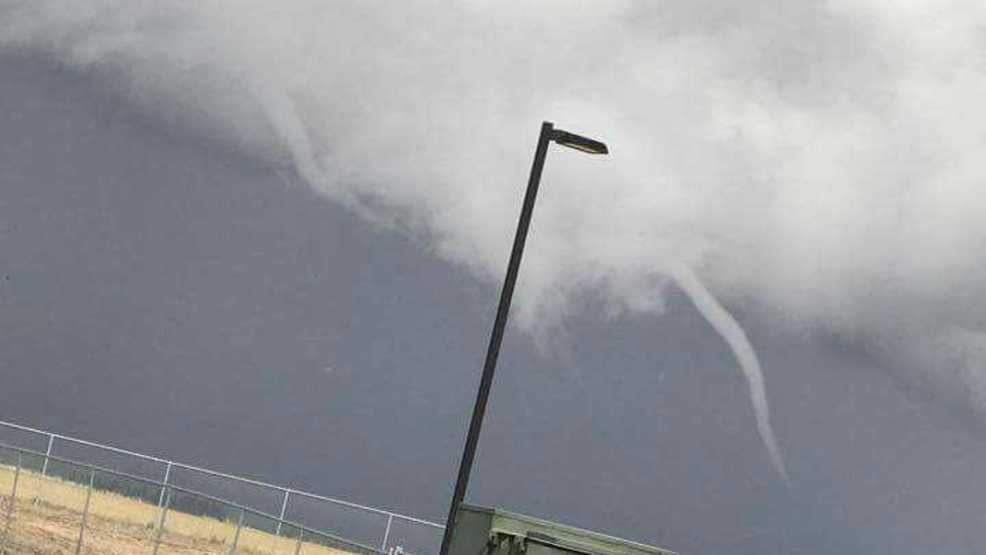 Rare double funnel cloud spotted during Tuesday's thunderstorms