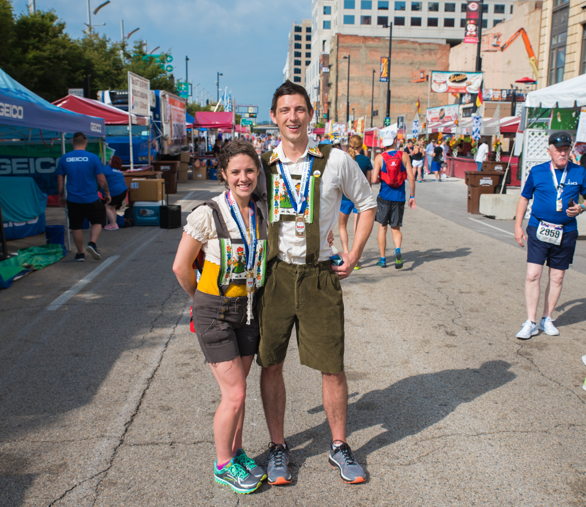 People: Jordan and Brad Ellis / Event: Oktoberfest Zinzinnati / Image: Sherry Lachelle Photography / Published: 10.1.17