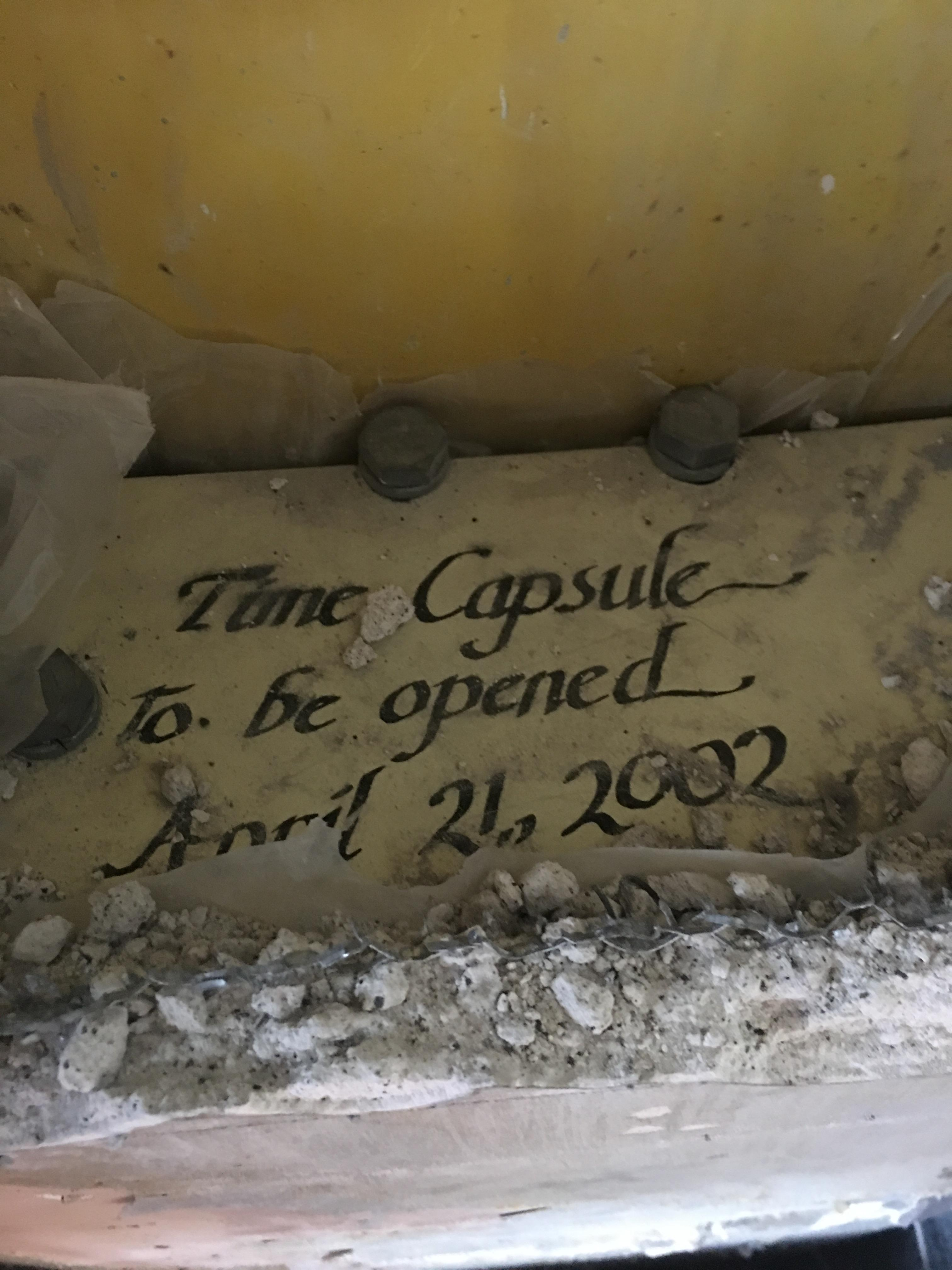 A time capsule from 1982 was discovered this week on the observation deck of the Space Needle. (Space Needle photograph)
