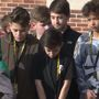 Northridge Middle School students hold walkout