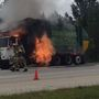 Watch: Trash truck explodes after catching fire on I-675