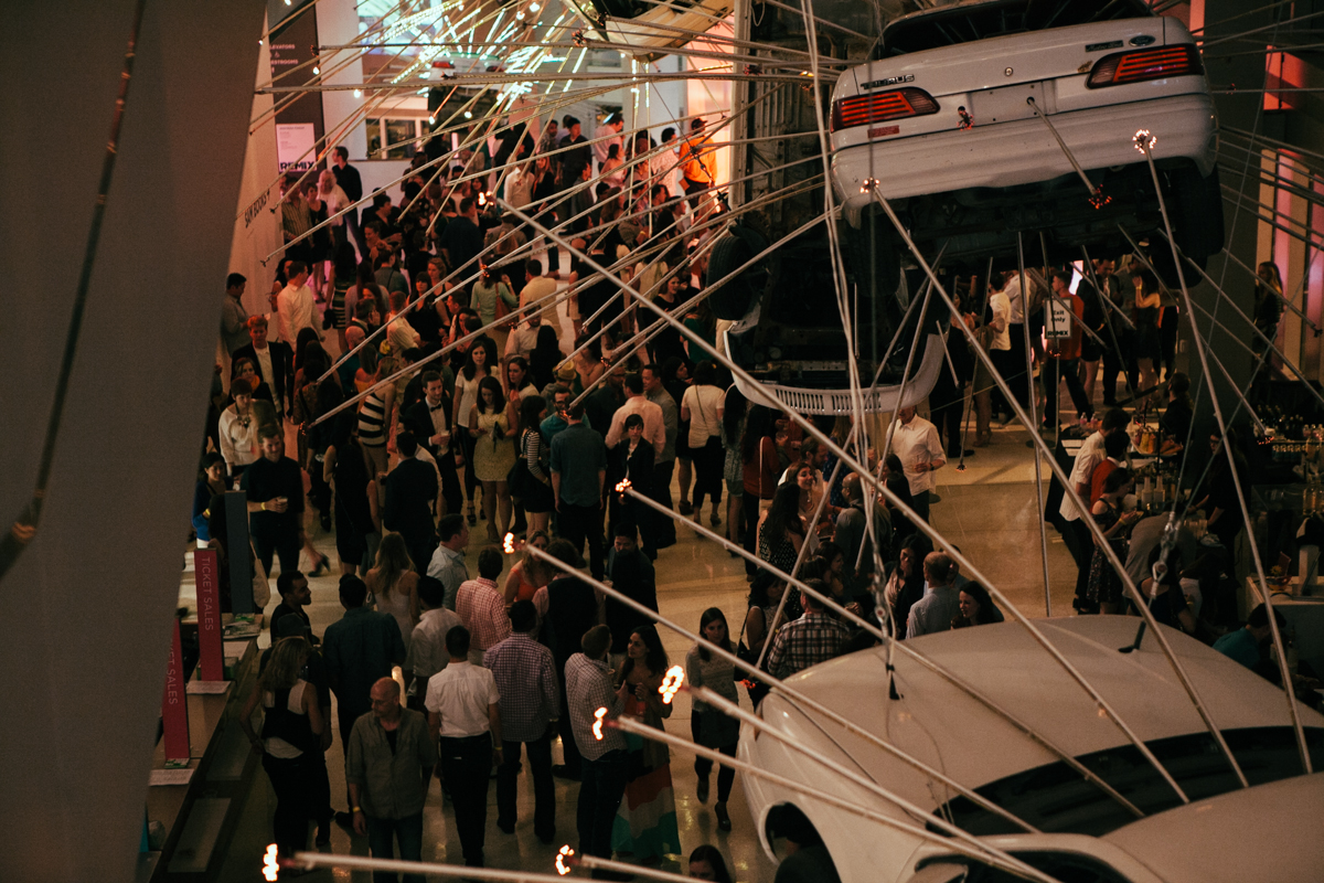 SAM Remix gives the opportunity to party in a museum after dark. Seattle Art Museum adds a bar, arts and crafts, dancing, interactive art, photos opportunities and more, there is something for everyone over 21. (Image: Joshua Lewis / Seattle Refined)