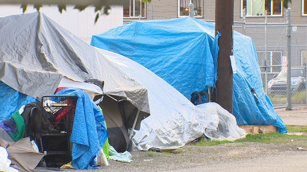 FILE - The City of Seattle plans to remove a homeless encampment in Lake City. (KOMO Photo).jpg
