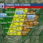 Strong to Severe storms possible Friday throughout midstate