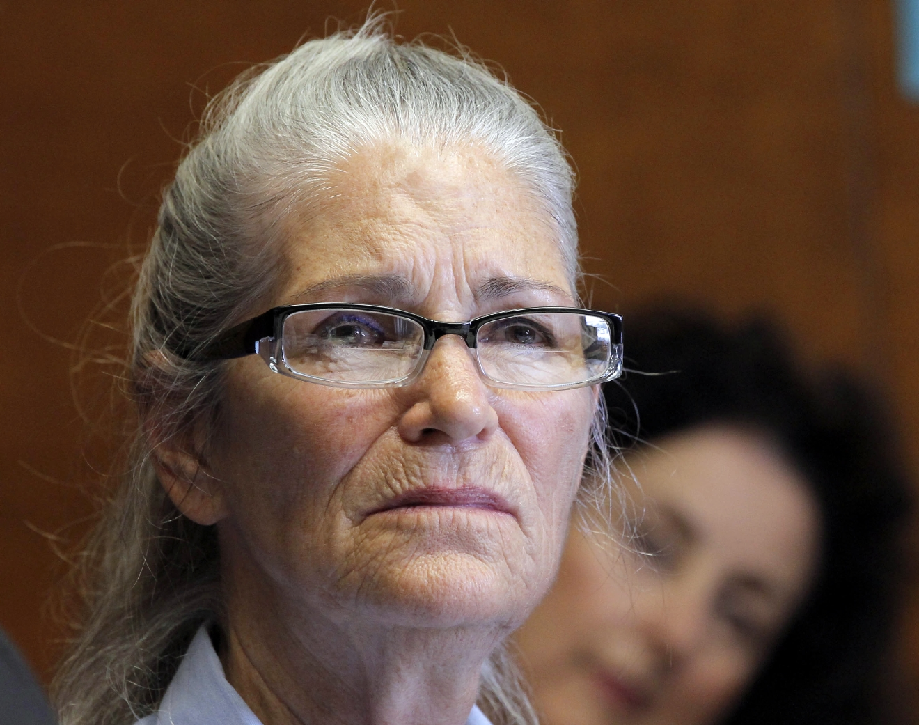 FILE- In this June 5, 2013, file photo, Leslie Van Houten appears during her parole hearing at the California Institution for Women in Chino, Calif. The youngest of Charles MansonÂ?s followers to take part in one of the nationÂ?s most notorious killings is trying again for parole. Van Houten is scheduled for her 21st hearing before a parole board panel Thursday, April 14, 2016, at a womenÂ?s prison in Corona, Calif. (AP Photo/Nick Ut, File)