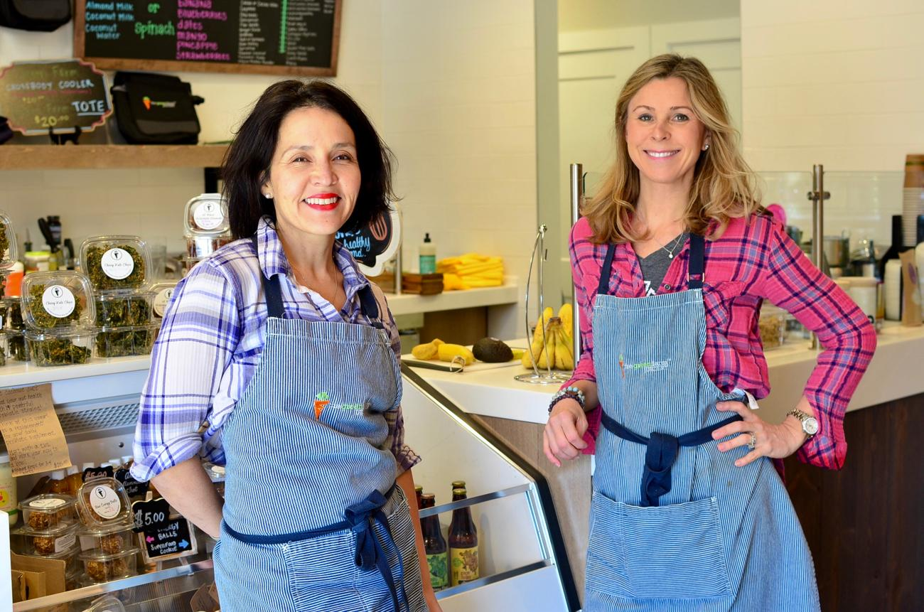 "<p>Pictured: Mara Boord and Amanda Bottleson, owners of Green Farm Juicery / Story: ""Your Body Will Thank You After A Visit To Green Farm Juicery"" / Image: Leah Zipperstein, Cincinnati Refined // Published: 4.5.18</p>"