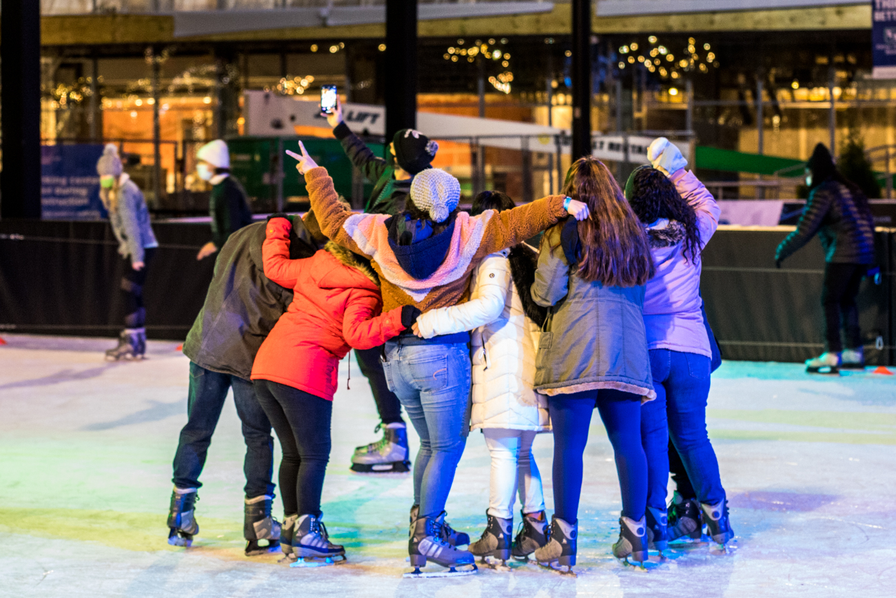 It costs $15 for split sessions of ice skating and bumper cars, $10 for ice skating only, and children four years old and younger are free. Spending more than $60? Use the code FSQFAM at checkout to save 20 percent on your purchase. / Image: Catherine Viox // Published: 12.20.20