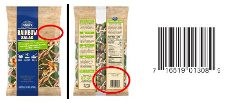 A label for one of the many products included in the voluntary recall (FDA)