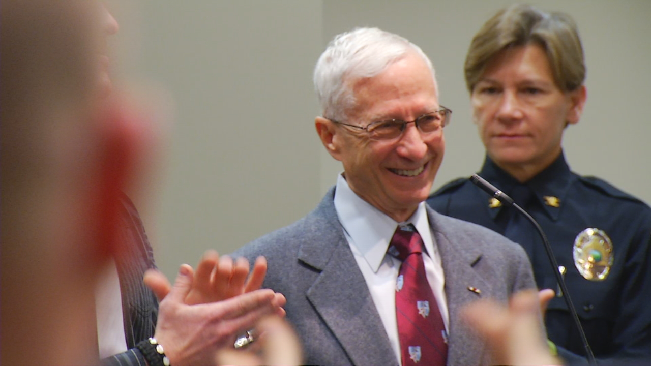 At 72 years old, Dr. Stephen Frost is the oldest in North Carolina to graduate from Basic Law Enforcement Training (BLET). (Photo credit: WLOS Staff)