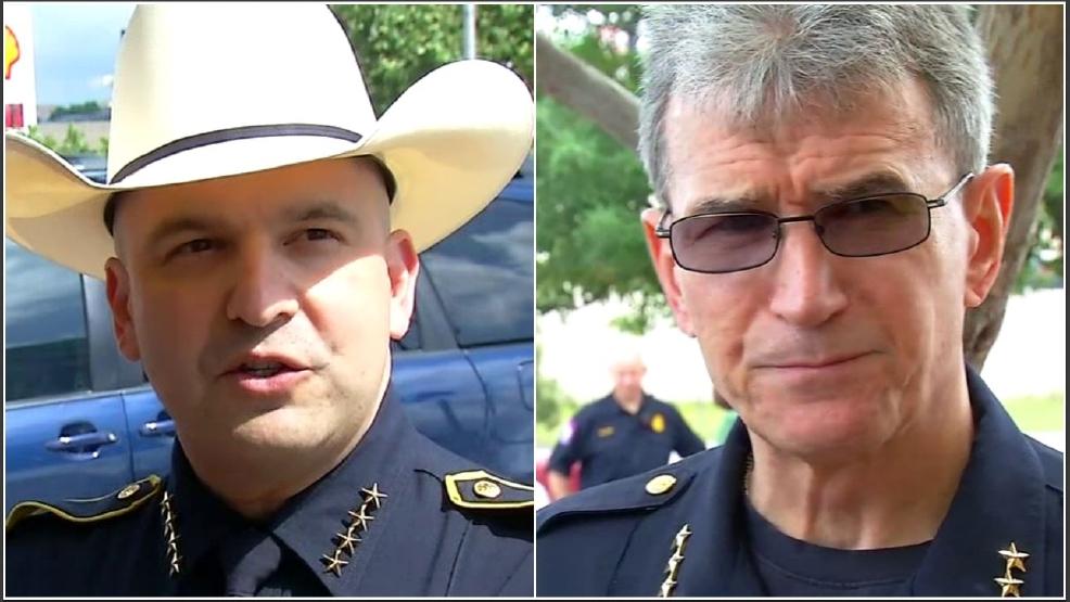 Sheriff Javier Salazar And Chief William Mcmanus Talk