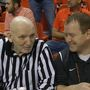 Lee Manzer: Holding down the scorekeeper's table at Gallagher-Iba Arena