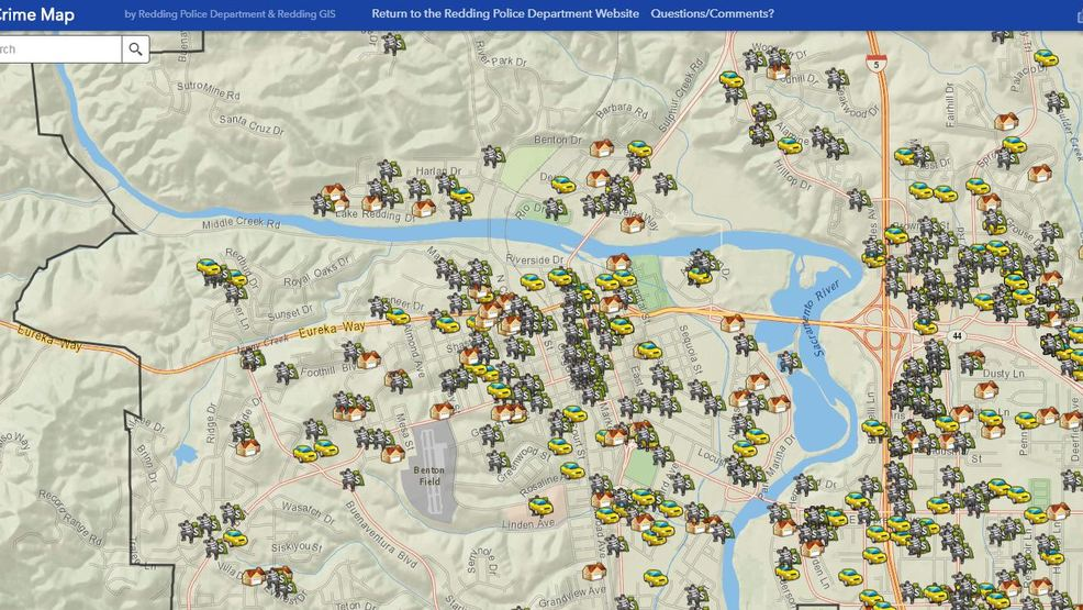 Redding police release public crime map KRCR