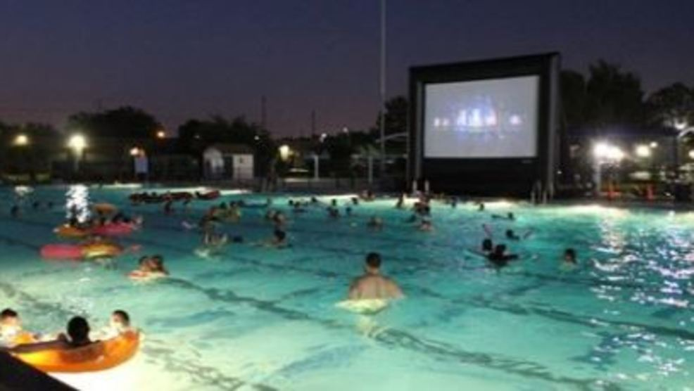 Dive In Movie Watch 39 Jaws 39 Floating In The Miller Park Pool Wset