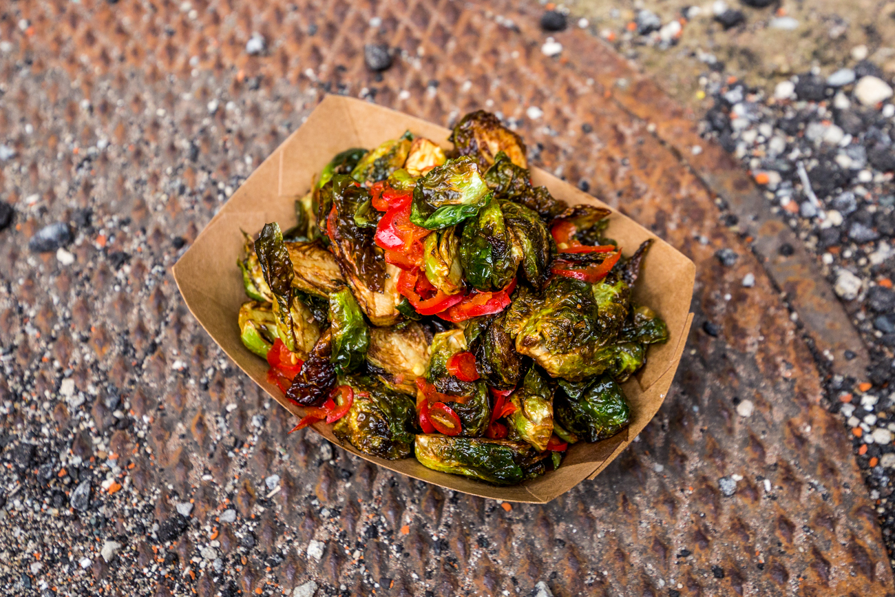 Fried brussel sprouts with a cane vinaigrette / Image: Catherine Viox // Published: 4.27.19