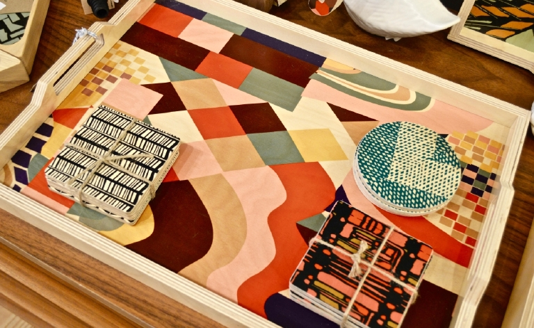We like to call this handmade wooden tray, functional art. (Image: Samantha Shapin)