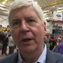 Gov. Snyder attends SVSU robotics tournament, fields Flint water questions