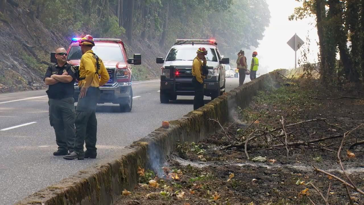 Officials say Interstate 84 may close several times this winter because of the damage the fire has caused. (KATU Photo)