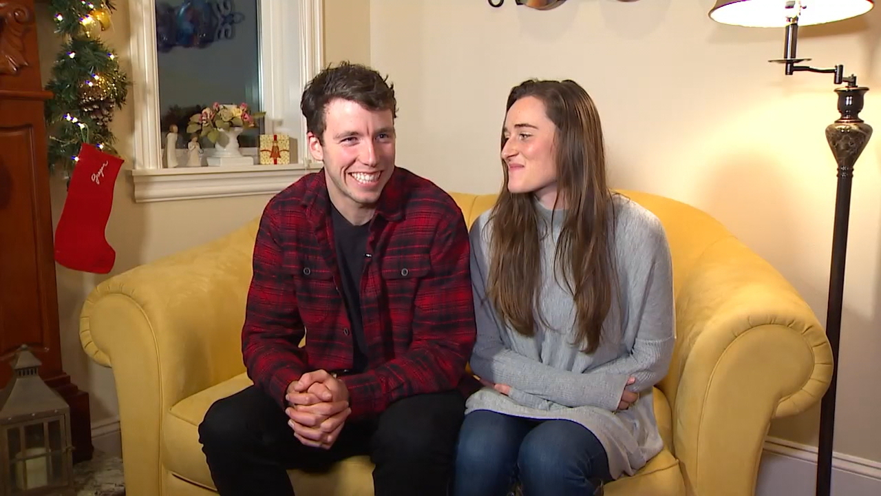 Dan Konzelman said he and his girlfriend, Alicia Hoverson, were first to arrive on the scene of Monday's deadly Amtrak train derailment near DuPont, Wash., Dec. 18, 2017. (Photo: KOMO News/Air 4)