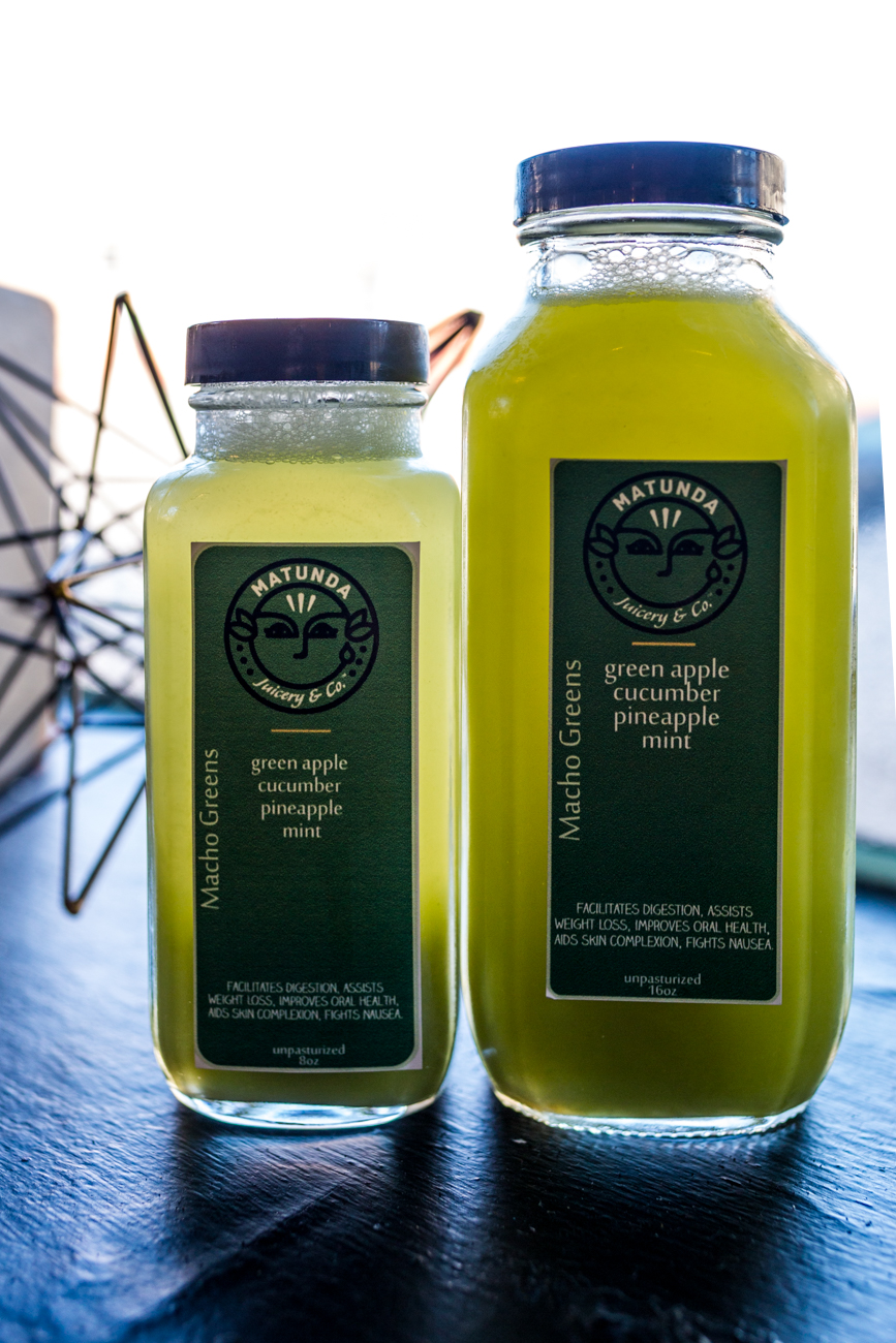 Matunda cold pressed juice with green apple, cucumber, pineapple, and mint / Image: Catherine Viox{ }// Published: 11.7.19