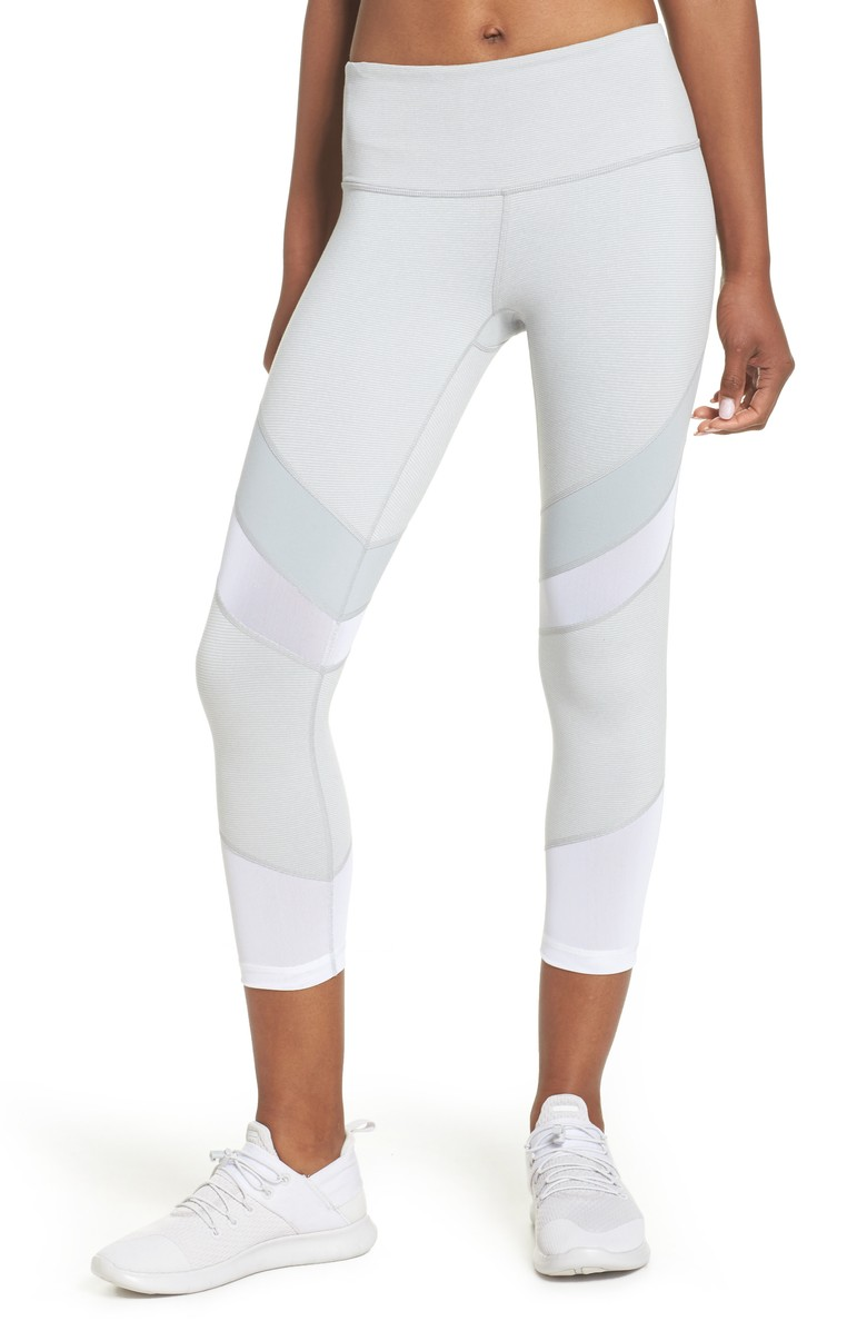 Live In Electric Mix Power Mesh Crop Leggings - $59.{&amp;nbsp;}Looking for a jumpstart to your workout wardrobe? Zella, a Nordstrom brand, has you covered. Find more info and buy online at shop.nordstrom.com/c/all-zella. (Image: Nordstrom)<p></p>