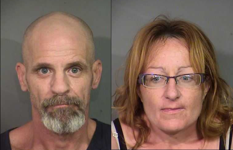 Charles Ausiello, left, and Jolene Hibbs have been identified as persons of interest in the disappearance of 62-year-old David Rathbun. (Photos: LVMPD)
