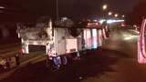 All lanes of I-5 reopen in Seattle after utility truck rollover crash