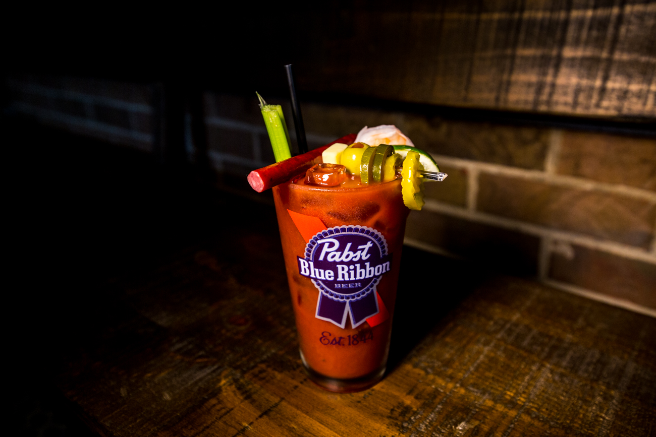 Sunday Bloody Sunday: patrons can choose their own Bloody Mary toppings / Image: Catherine Viox{ }// Published: 5.20.19
