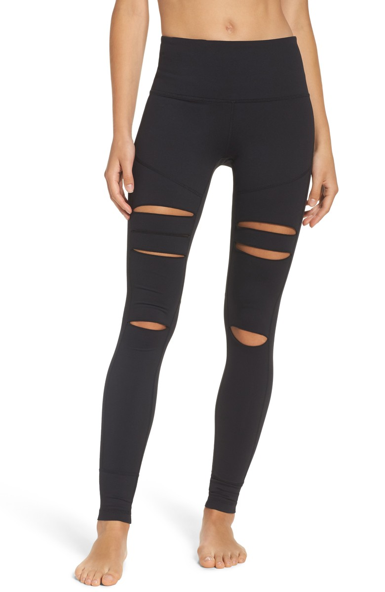 Cece High Waist Open Knee Leggings - $65.{&nbsp;}Looking for a jumpstart to your workout wardrobe? Zella, a Nordstrom brand, has you covered. Find more info and buy online at shop.nordstrom.com/c/all-zella. (Image: Nordstrom)<p></p>